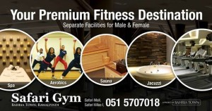 Safari Gym & Spa - Bahria Town - Rawalpindi